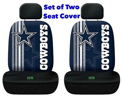 Dallas Cowboys NFL Printed Logo Car Seat Cover-Set of Two