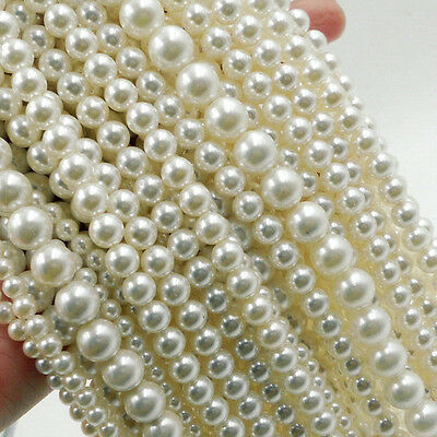 Wholesale 4-20MM Spacer Acrylic Pearl Loose Beads DIY Bracelt Necklace