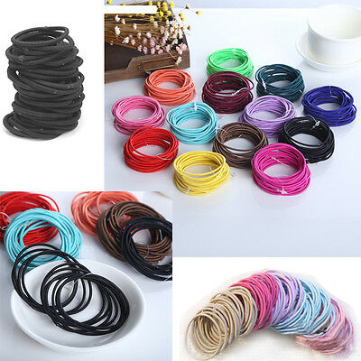 20 Pcs Women Ring Ponytail Holder Accessories Elastic Hair Ties Band Ropes New