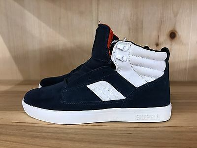SUPRA BANDIT NAVY SUEDE WHITE CANVAS CASUAL MENS SIZE 8-10-5   S39011