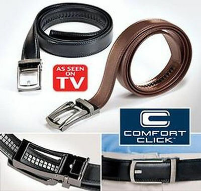 COMFORT CLICK Leather Belt Automatic Adjustable Men As   On TV USA Seller