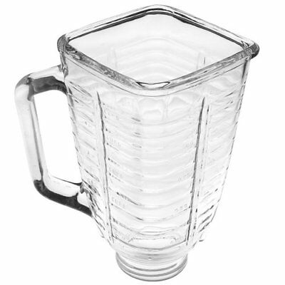 Replacement 5-Cup Glass Square Top Blender Jar Square Top Fits Oster Osterizer