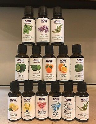 NOW Foods 1 oz Essential Oils and Blend Oils NewSealed Free Shipping Pick Scent