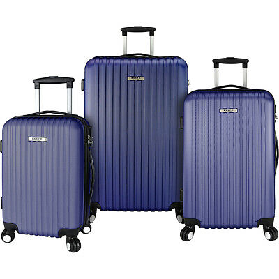 Elite Luggage Davis 3 Piece Lightweight Hardside Luggage Set NEW