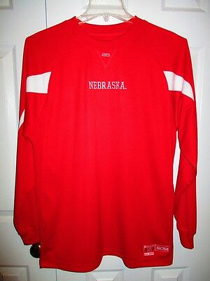 Nebraska Cornhuskers March Madness NCAA 1869 Red White L LS Pullover Shirt