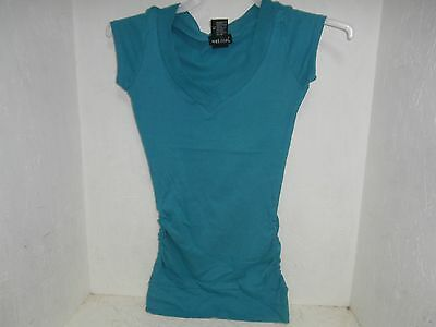 Wet Seal V-Neck Top Teal Size Small NWOT