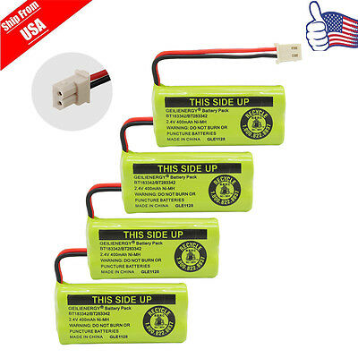 4X Cordless Phone Battery For BT-183342 BT283342 AT-T BT166342 Empire CPH-515J
