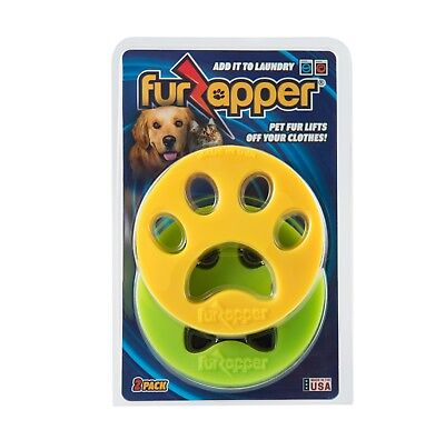 2-pack FURZAPPER DOG Fur CAT Hair Remover for your Laundry-Add to Washer - Dryer