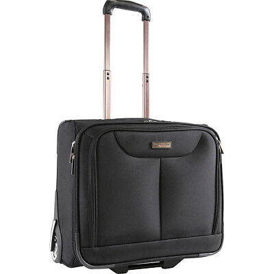 Pacific Coast Rolling Laptop Business Briefcase - Black Wheeled Business Case