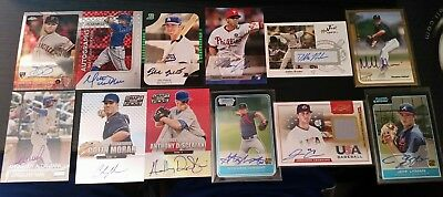 auto patch serial  baseball 51 card lot