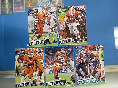 2017 Prestige Rookie Lot Clemson Tigers 5 Football Cards SP