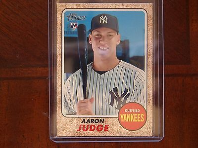 2017 Topps Heritage Aaron Judge Action SP RC New York Yankees Mint