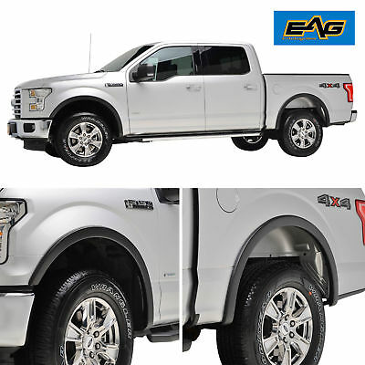 EAG OE Style Fender Flares for 15-17 Ford F-150 4PCS - Textured Satin Black