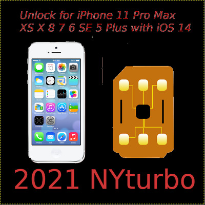 Perfect Unlock Turbo Sim Card for Phone R 12 11 X 8 7 SE XS Pro Max Plus iOS 14