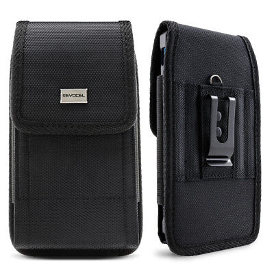 Cell Phone Pouch with Belt Loop and Metal Clip Holster 3 Sizes - Evocel