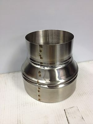 6 inch to 7 inch stove pipe Stainless Steel Single Wall Adapter