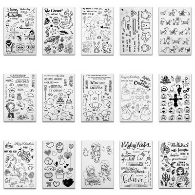 Christmas Transparent Silicone Clear Rubber Stamp Cling Diary Scrapbooking DIY