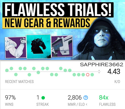 Destiny 2 Trials of the Nine GUARANTEED Flawless CarryRecovery Xbox One - PS4