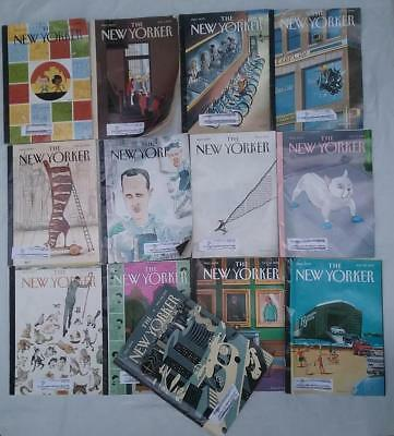 2013 The New Yorker Magazine Lot of 13