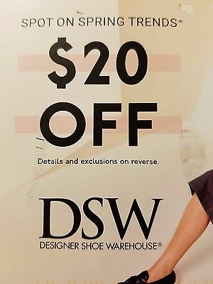 1 DSW 20 off 49 item  IN STORE only exp 1022