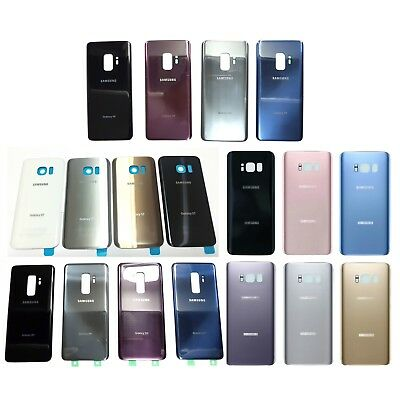 Samsung Galaxy S8 S8- Plus G950 G955 Back Battery Cover Rear Door Glass - Tape