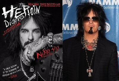 Pre-Order Nikki Sixx signed book The Heroin Diaries 10th anniv Edition 10-27-17