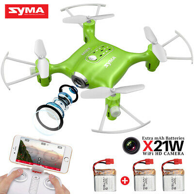 SYMA X21W Mini Drone 2-4Ghz 6-Axis Gyro RC Quadcopter with HD Camera Wifi Drone