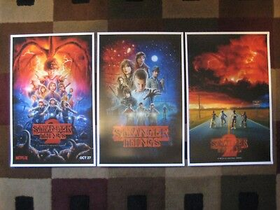 Stranger Things 11 x 17  Collectors Poster Prints   Set of 3
