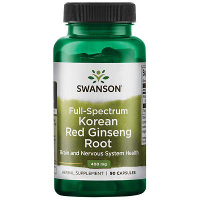 Swanson Full-Spectrum Korean Red Ginseng Root 400 mg 90 Caps