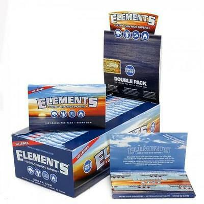 Elements Single Wide 1-0 Ultra Thin Rice Cigarette Rolling Papers - Full Retail
