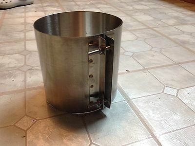 8 Inch stove pipe Draw Band Collar - Made in Maine USA