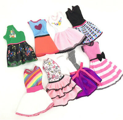 Beautiful Handmade Fashion Clothes Dress For Barbie Doll Cute Lovely Decor QD