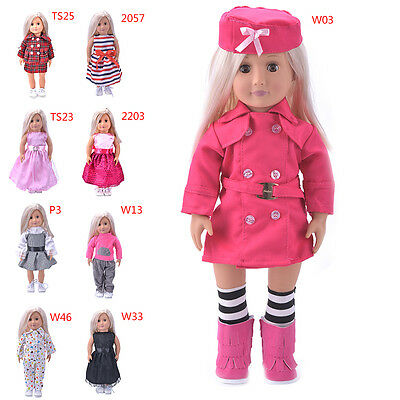 Hot Madame Handmade fashion Doll Clothes dress For 18 inch American Girl DolBLUJ