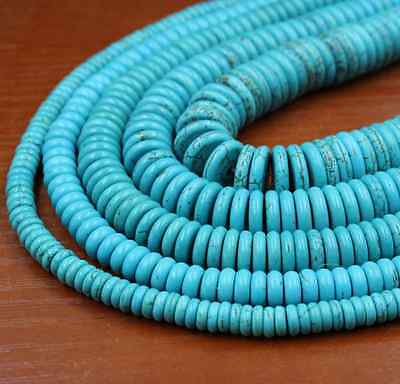Natural Turquoise Gemstone Heishi Beads Spacer 4mm 6mm 8mm 10mm 12mm