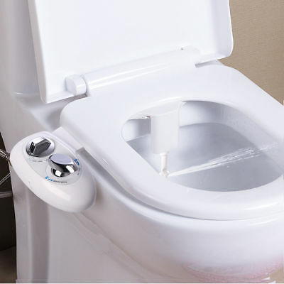 Adjustable SelfCleaning NozzleNonElectric Water Spray Bidet Toilet Seat