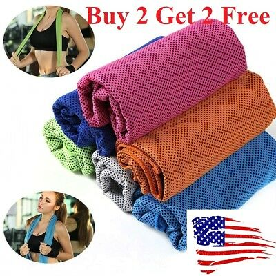 Buy 2 get 2 free ice Cooling Towel for SportsWorkoutFitnessGymYoga towels