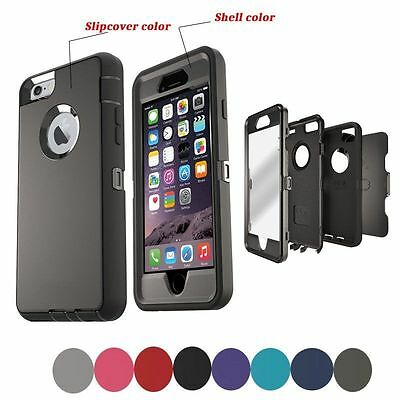 Defender Shockproof Case Cover For Apple iPhone SE 5S 6S 7 8 X Plus wBelt Clip