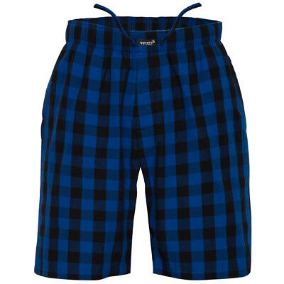 Ritzy Mens Sleep Short Pajama 100 Cotton Woven Plaid ComfortSoft - B-B Checks