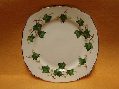 Colclough English Bone China Ivy Leaf Pattern Square Bread and Butter Plate