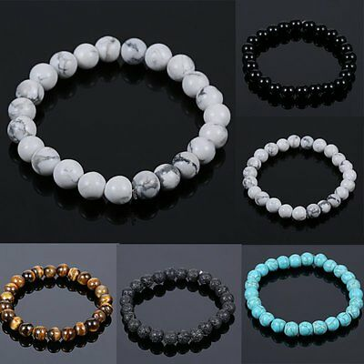 Men Women Natural Stone Beads Bracelets Tiger EyeTurquoise Jewelry Gifts