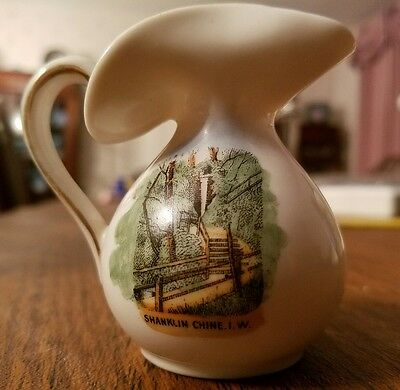 GEMMA Pictorial Crested China Baluster Jug  SHANKLIN CHINE  I-W- ISLE of WIGHT