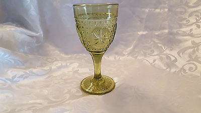 EAPG -6 12 water goblet in Amelia - green by Imperial glass -Ohio  3146