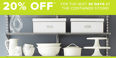 The Container Store 20 Off Purchase Coupon - In Store or Online - Exp- 02-12-18