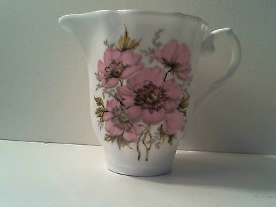 Vintage Royal Grafton Fine Bone China England Pink Roses Creamer