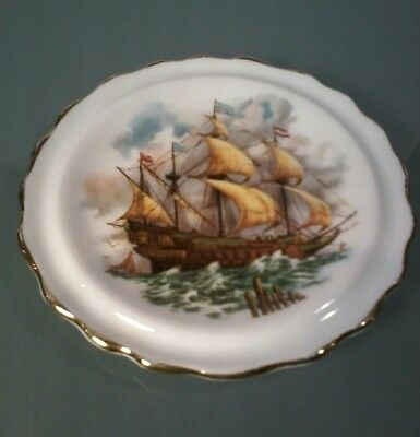 Royal Grafton Fine Bone China Mini Plate Sailboat
