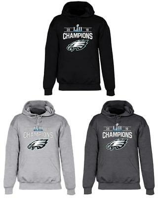 Philadelphia Eagles Super Bowl LII Champs Hooded Sweat Shirt Hoodie Champions