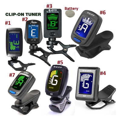 Clip-On Digital LCD Tuner Chromatic Electric Guitar Bass - All Instrument
