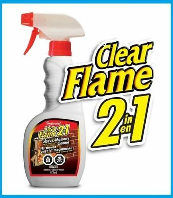 Imperial Clear Flame 2 in 1 Glass Masonry Cleaner soot smoke stain remover 22 oz