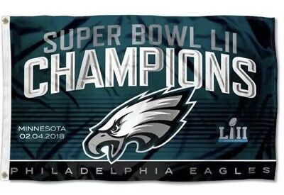 PHILADELPHIA EAGLES 2018 SUPER BOWL CHAMPIONS FLAG 3X5 BANNER FOOTBALL 🏈🏈