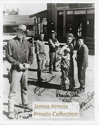 James Arness Private Collection Gunsmoke Marshal Dillon Signed Cast  8 x 10